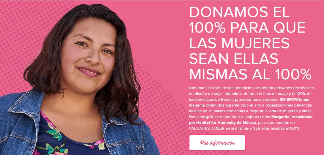 Belleza con causa: Benefit + Hábitat para la Humanidad México