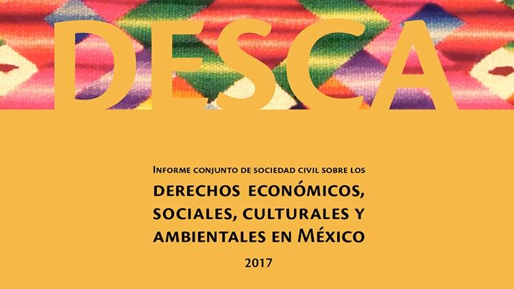 Informe conjunto de Sociedad Civil sobre los Derechos, Económicos, Sociales, Culturales y Ambientales en México, 2017.
