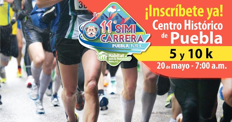 Sé parte de la 11ª Simicarrera Puebla y #LevantemosMéxico