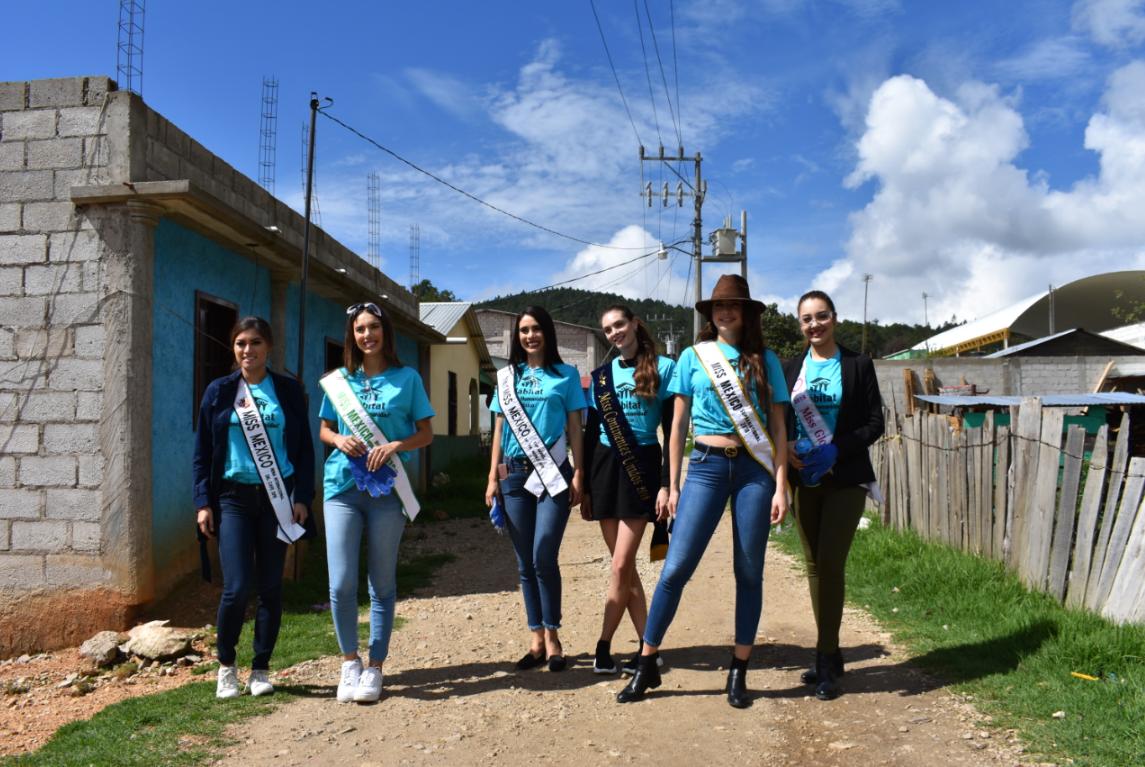 Ganadoras de Miss México participan como Voluntarias en Chiapas